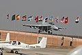 The F-18 Super Hornet Fighter Jet of US Navy is about to take off for final show at the closing ceremony of Aero India 2009, at Yelahanka Air Base, Bengaluru, on February 15, 2009.jpg