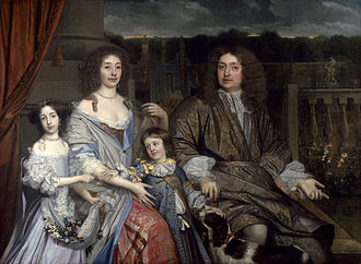 Sir Robert Vyner, 1st Baronet - Sir Robert Viner and his family, as painted by John Michael Wright.