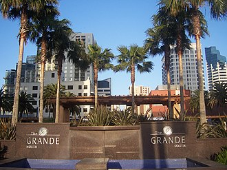 The Grande at Santa Fe Place -  Entrance to the two towers.