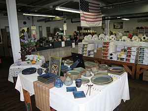 Homer Laughlin China Company - The retailing floor at the company's factory outlet store.