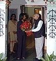 The Leader of Opposition in Lok Sabha, Shri L.K. Advani meeting the US Secretary of State, Ms. Condoleezza Rice, in New Delhi on December 03, 2008.jpg