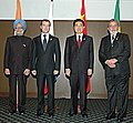 The Leaders of the BRIC Countries, the President of Brazil, Mr. Lula da Silva, the President of Russia, Mr. Dmitry A. Medvedev, the Prime Minister of India, Dr. Manmohan Singh and the President of China.jpg