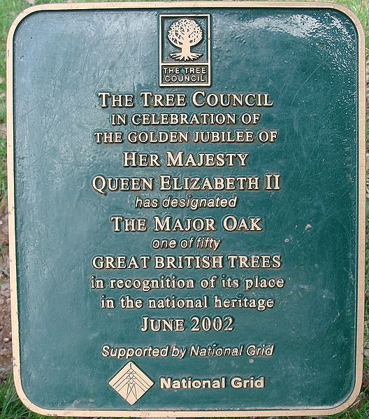 File:The Major Oak Great British Tree plaque.jpg