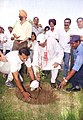 The Minister for Youth Affairs and Sports, Shri Sunil Dutt planting a sapling on the occasion of National Sports Day-2004, in New Delhi on August 29, 2004.jpg