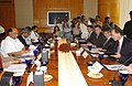 The Minister of Agriculture, Bio-Security, Fisheries and Forestry of New Zealand, Mr. Jim Anderton along with a delegation meeting with the Union Minister of Consumer Affairs, Food and Public Distribution and Agriculture.jpg