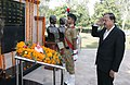 The Minister of State for Defence, Dr. Subhash Ramrao Bhamre paying homage at War Memorial, at the inauguration of the 48th All India Sainik School (AISS) Principals' Conference, at Sainik School Kunjpura, Haryana.JPG