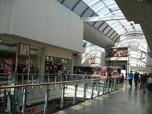 Economy of Reading, Berkshire - The upper level of The Oracle