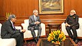 The President of the Massachusetts Institute of Technology (MIT), Cambridge, Dr. Rafael Reif calling on the Prime Minister, Shri Narendra Modi, in New Delhi on January 28, 2016. Shri Ratan Tata is also seen (1).jpg