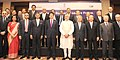 The Prime Minister, Shri Narendra Modi and the Prime Minister of Japan, Mr. Shinzo Abe with the participants of the India-Japan Business Leaders Forum, in New Delhi on December 12, 2015.jpg
