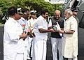 The Prime Minister, Shri Narendra Modi being welcomed by the Chief Minister of Tamil Nadu Shri Edappadi K. Palaniswami on his arrival at Chennai on November 06, 2017.jpg