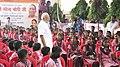The Prime Minister, Shri Narendra Modi interacting with the children of a primary school, at Narur village, in Uttar Pradesh on September 17, 2018.JPG