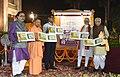 "The Prime Minister, Shri Narendra Modi releasing a postal stamp on ""Ramayana"", during his visit to Tulsi Manas Temple, in Varanasi, Uttar Pradesh.jpg"