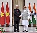 The Prime Minister, Shri Narendra Modi with the President of the Socialist Republic of Vietnam, Mr. Tran Dai Quang, at Hyderabad House, in New Delhi on March 03, 2018 (3).jpg
