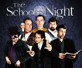 Ken Campbell - Image: The School of Night logo plus seven fraters