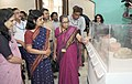 """The Secretary, Ministry of Culture and Tourism, Smt. Rashmi Verma visiting after inaugurating the exhibition entitled """"Traditional Head Gear of India"""" from the reserve collection of National Museum, in New Delhi.jpg"""