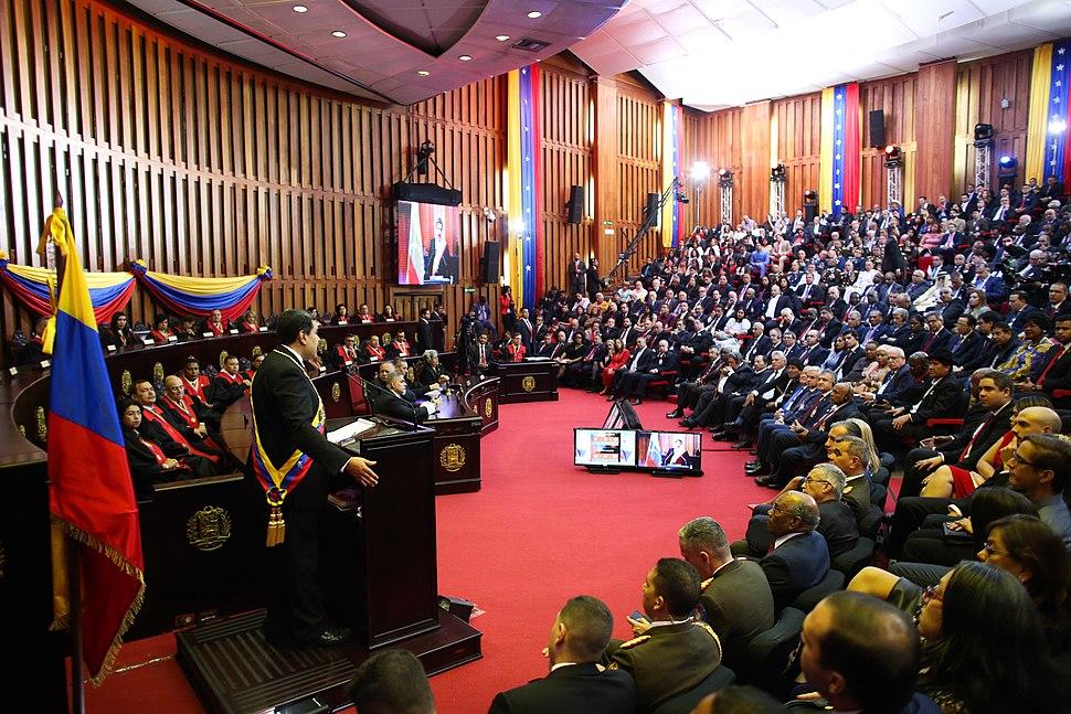 The TSJ chamber at Maduro 2019 inauguration