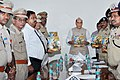"The Union Home Minister, Shri Rajnath Singh releasing an illustrative book of the Central Reserve Police Force (CRPF) titled ""Ayodhya ke Shoorvir"", in New Delhi.jpg"
