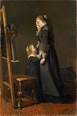 The Widow of a Painter by Kate Bisschop-Swift Rijksmuseum Amsterdam SK-A-1802.jpg