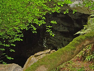 Caves of the Tullybrack and Belmore hills - Arch Cave, June 2009, The Baraghan, Boho