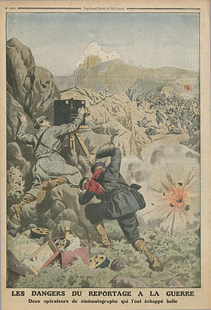 "Journalists of the Balkan Wars - ""The dangers of war reporting – Two camera operators who had a close call,"" Le Petit Journal (Paris), 3 November 1912, p. 352."