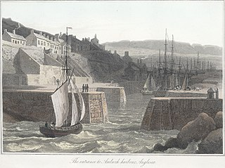 The entrance to Amlwch harbour, Anglesea