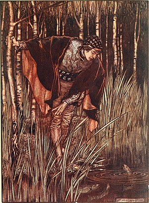 The White Snake - 1916 illustration by Arthur Rackham