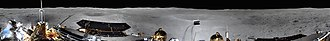 Chang'e 4 - Image: The first panorama from the far side of the moon