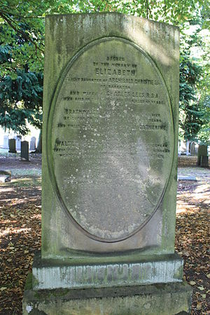Charles Lees (painter) - The grave of Charles Lees, Warriston Cemetery, Edinburgh