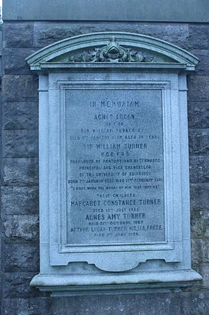 William Turner (anatomist) - The grave of Sir William Turner, Dean Cemetery