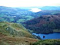 The head of Nab Scar overlooks Rydal Water and Windermere - geograph.org.uk - 760639.jpg