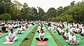 The participants in the mass performance of Common Yoga Protocol, on the occasion of the 4th International Day of Yoga -2018, at Lodhi Garden, in New Delhi on June 21, 2018 (2).JPG