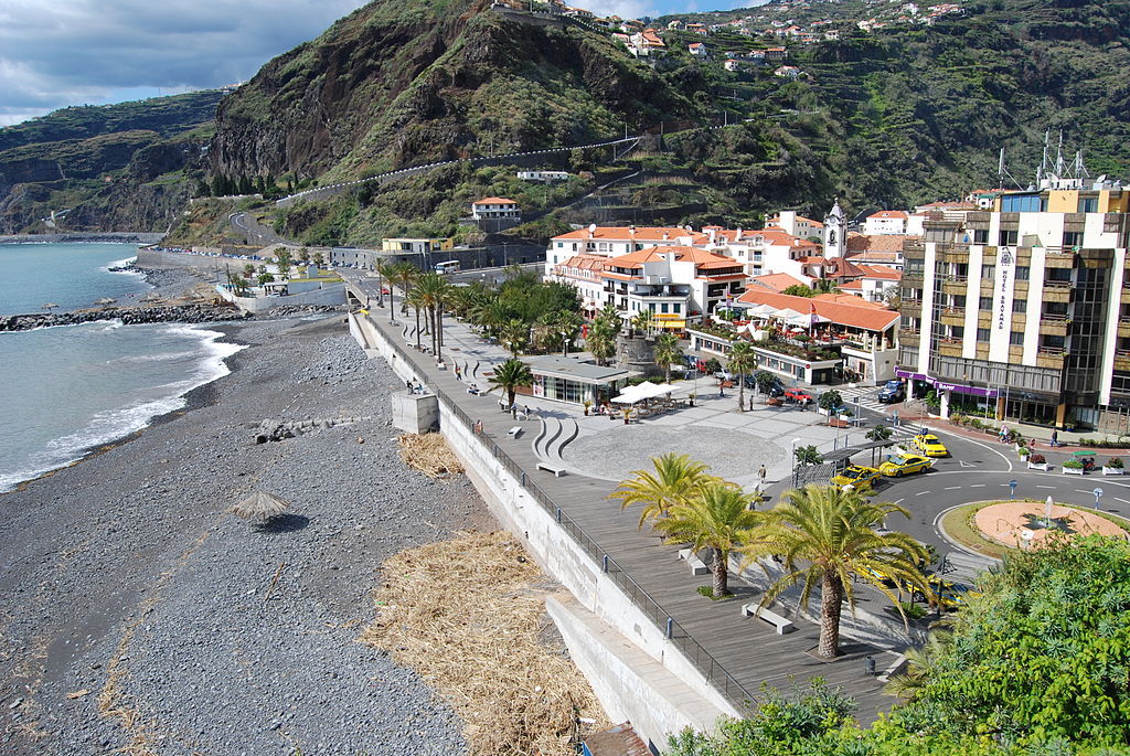The seafront at Ribeira Brava, Maderia, Portugal