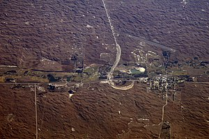 Thedford, Nebraska - Aerial view of Thedford