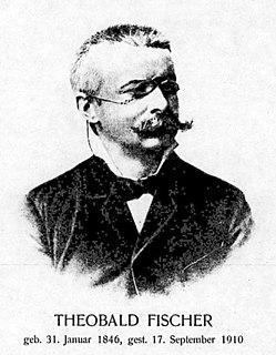 Theobald Fischer German geographer