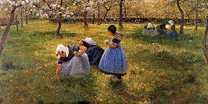 Theodoor Verstraete - Spring in Schoore