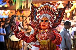 Theyyam Folk art from Kerala, India