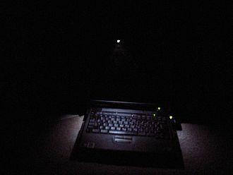 IBM ThinkPad ThinkLight - White LED ThinkLight on a ThinkPad A21p Laptop
