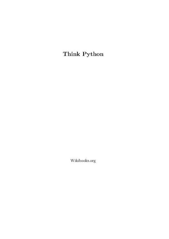File Think Python Pdf Wikimedia Commons