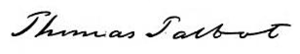 Thomas Talbot (Massachusetts) - Image: Thomas Talbot Signature