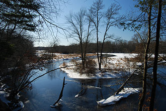 Three Mile River - View of Three Mile River in winter