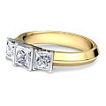 Three Stones Diamond engagement ring yellow gold made by 1791 Diamond.jpg
