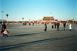 Tiananmen Square public square in Beijing, China