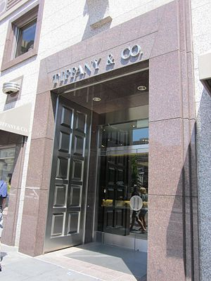 Tiffany Building (San Francisco) - The entrance to the Tiffany building in Union Square