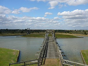 Tilbury Fort - The 17th-century ravelin, drawbridges and the inner moat