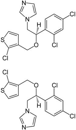 Tioconazole Enantiomers Structural Formulae.png