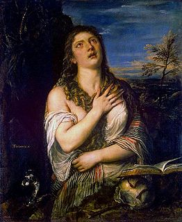 1565 oil painting by Titian of saint Mary Magdalene