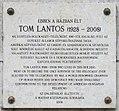 Tom Lantos plaque (Budapest-13 Szent István park 25).jpg