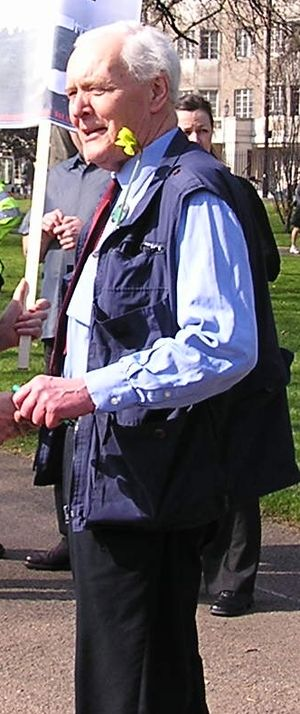 Tony Benn - Benn about to join the March 2005 anti-war demonstration in London