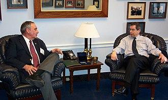 Solvay, New York - Former Mayor Anthony Modafferi meets with former Congressman Jim Walsh