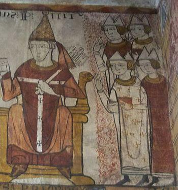 Français : Pape Clément IV (Fresque de la Tour...